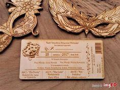 Drewniane zaproszenia ślubne teatr Place Cards, Place Card Holders