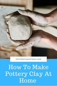 How To Make Pottery Clay At Home Wondering how to make pottery clay at home? Well, there are different ways to do this. You can buy dry clay in powder form, recycle your clay and even go out and dig… Continue Reading → Diy Fimo, Diy Clay, Clay Crafts, Mosaic Crafts, Polymer Clay, Paper Crafts, Porcelain Clay, Ceramic Clay, Ceramic Pottery