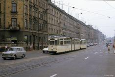 Leipzig 1207+967 Möckern, 31.08.1990   von Tramfan2011 East Germany, Berlin Wall, Train Tracks, Paris, Public Transport, Transportation, Street View, Explore, Retro