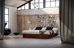 idées pour faire soi-même sa tête de lit DIY chambre loft fermer separation rideaux theatre ambiance brut industrielle chaleureuse