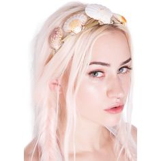 Rock n Rose Shell Queen Metal Headband ($68) ❤ liked on Polyvore featuring accessories, hair accessories, head wrap headband, rock 'n rose, rose headbands, embellished headbands and hair band headband