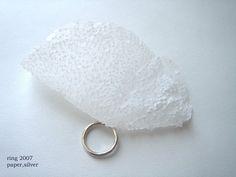 Haruka Oe - ring - paper, silver