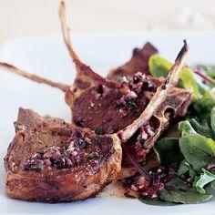 Grilled Lamb Chops with Provençal Dressing