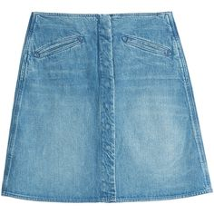 M i H Denim Skirt (2.445 ARS) ❤ liked on Polyvore featuring skirts, bottoms, blue, blue a line skirt, a line denim skirt, denim skirt, knee length a line skirt and a line skirt