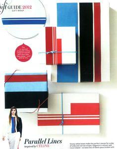 Fashion inspired gift wrap ideas from Dec12 InStyle Magazine-ph: Johnny Miller / styled by Cindy Diprima via happymundane.com