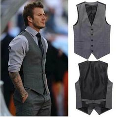 Find More Vests & Waistcoats Information about Free Shipping high quality 2014 Male Brand Fashion Beckham vest men formal suit tank tops vest undershirt beer for men grey,High Quality Vests & Waistcoats from LuisVanita Corporation on Aliexpress.com