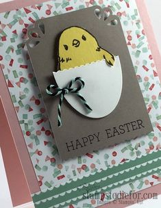 Honeycomb Happiness Chick Easter Egg Card Sale-a-brations SAB www.stampstodiefor.com