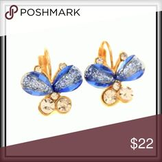 BUTTERFLY EARRINGS                        🎉HP🎉 Delicate and elegant butterfly earrings. Jewelry Earrings