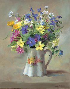 Ann Cotterill   OIL                               Wild Flowers in a Victorian Jug