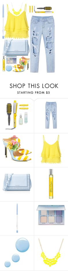 """""""street style"""" by ecem1 ❤ liked on Polyvore featuring Drybar, Giannico, Glamorous, MICHAEL Michael Kors, Atelier Cologne, Anastasia Beverly Hills and Topshop"""