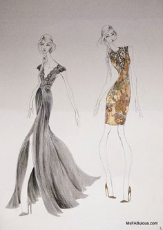 THEIA Fall 2015 fashion sketches by Don O'Neill