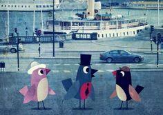 Affiche Ingela Arrhenius - Birds in Stockholm