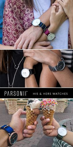 His & Hers watches -- interchangeable faces & straps allow you to customize your set!