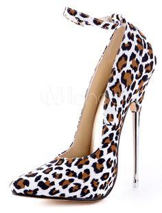 Sexy High Heels mit Leopard Print  Stilettos für Dame
