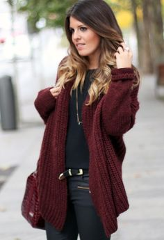 see more Lovely Over Sized Cardigan and Suitable Pants and Belt