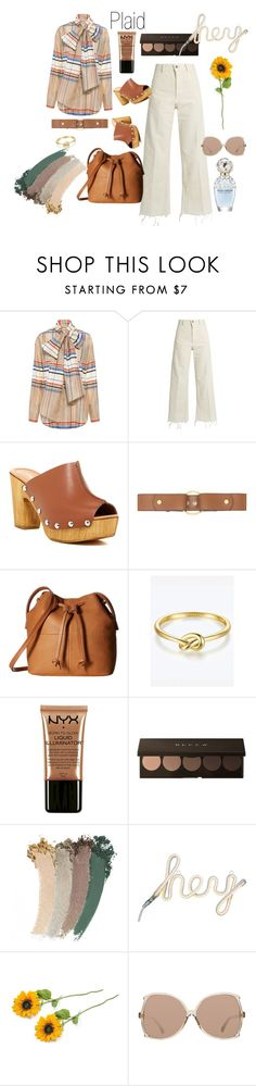 """""""plaid"""" by ashliyourstrulyx ❤ liked on Polyvore featuring SUNO New York, Rachel Comey, Charles David, Marni, ECCO, NYX, Gucci, Linda Farrow and Marc Jacobs"""