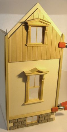 Mike's Miniatures: Modular stick built pack away dollhouse: Decorating