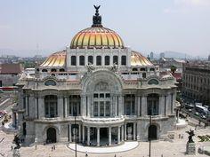 El palacio de bellas artes. Visiting Mexico City, Visit Mexico, Taj Mahal, Places To Visit, Building, Travel, Fine Art, Palaces, Viajes