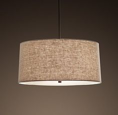Restoration Hardware - drum lamp shade pendant
