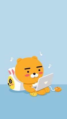 Friends Wallpaper, Bear Wallpaper, Tumblr Wallpaper, Wallpaper Iphone Cute, Best Quotes Wallpapers, Cute Cartoon Wallpapers, Kakao Ryan, Apeach Kakao, Kakao Friends