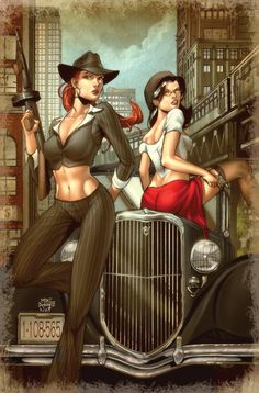 """♥ Grimm Fairy Tales #46  ♥  """"Chicago Gangster"""" Exclusive cover by Mike DeBalfo & Nei Ruffino"""