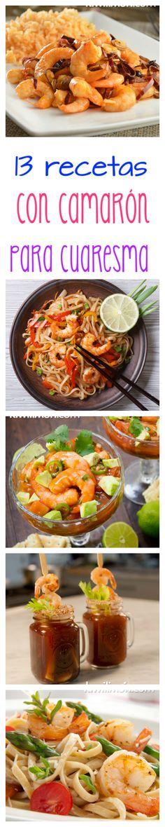 ¡No te vas a poder resistir a cocinar estas 13 recetas con camarón esta cuaresma!