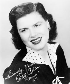 """Patsy Cline (September 1932 – March was an American country music singer as part of the early Nashville sound. Cline successfully """"crossed over"""" to pop music. She was one of the most influential, successful and acclaimed female vocalists of the century. Country Music Artists, Country Music Stars, Country Singers, Her Music, Music Love, Amazing Music, Rock And Roll, I Fall To Pieces, Patsy Cline"""