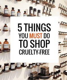 Cruelty-Free Shopping Tips. Do you follow them all? #crueltyfree #productivity Productivity Tip #productive
