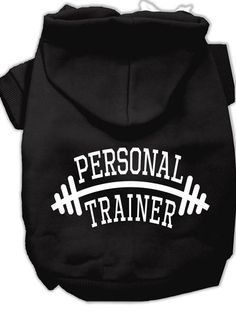 """Personal Trainer"" Dog Hoodie by Mirage Pet Products (Multiple Options)"