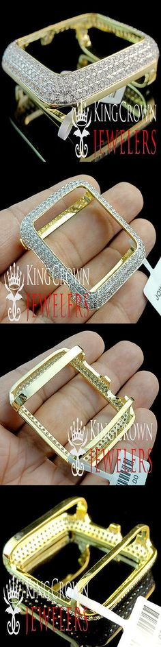 Bezels and Inserts 57714: Real Yellow Gold Silver Apple Watch Series 1 Bezel Case Cover 42 Mm Simu Diamond -> BUY IT NOW ONLY: $79.99 on eBay!