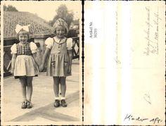 30293,Foto Ak Kinder Mädchen i. Kleidern Schleife i. Haar | eBay