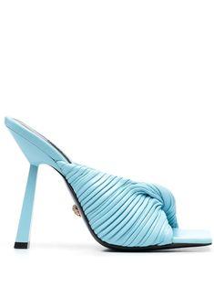 Two Strap Sandals, Lace Up Sandals, Girls Wear, Women Wear, Light Blue Heels, Versace, Girls Flip Flops, Platform Flip Flops, Open Toe Mules