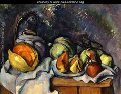 Still Life with Fruit and a Pot of Ginger - Paul Cezanne - www.paul-cezanne.org