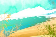 'Paradise Sand' Abstract Painting Print on Wrapped Canvas