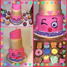 Lippy Lip Shopkins Cake