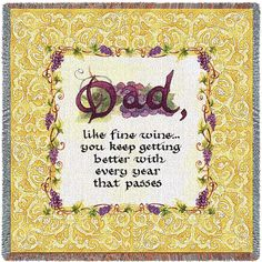 Dad Art Tapestry Throw