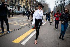 Street Style Photos From Fall 2017 Milan Fashion Week