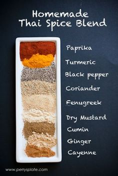 Homemade Thai Spice Blend | PerrysPlate.com