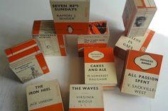 Uniek handgemaakt doosje van de omslag van oude Penguin boeken. De Regenboog Groep