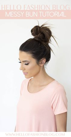 A few tips and tricks to approve the perfect messy bun. A look that is effortless and perfect for every day of the week.