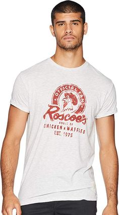 33186de30 Original Retro Brand The Men's Roscoe's Chicken & Waffles Vintage Tri-Blend  Tee Streaky Ash Small