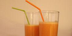 Skøn og flot orange juice med grape, appelsin og ingefær. Juicen bliver dejligt sød med et strejf af skarphed fra ingefæren, som også giver juicen et ekstra sundhedsboost.