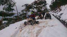 ATVs en LA NIEVE 07/02/2015baranjaratube