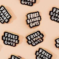 STYLE: fries before guys say it, wear it, live it. THIS pin collab with valley cruise press will NOT ONLY UP YOUR FLAIR GAME, IT WILL be a constant reminder THAT GOOD THINGS HAPPEN WHEN YOU GET YOUR P