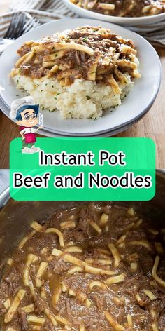 Instant Pot Beef and Noodles Beef And Noodles, Egg Noodles, Easy Healthy Dinners, Recipe Today, Instant Pot, Roast, Yummy Food, Cooking, Recipes