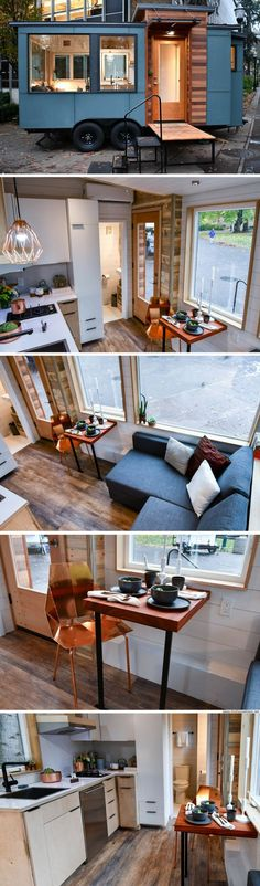 The Verve Lux from Tru Form Tiny Homes Tiny House Design Form Homes Lux Sofa Tiny Tru Verve Small Tiny House, Tiny House Living, Tiny House Plans, Tiny House Design, Tiny House On Wheels, Tiny House Movement, Tyni House, Kombi Home, Casas Containers