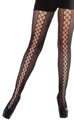 90cda0fdea31c MICRONET LACE UP ILLUSION STOCKINGS #stockings #fishnet Fishnet Stockings,  Stockings Legs, Fishnet. Sourpuss Clothing