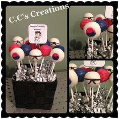 Tae Kwon do cake pops Ninja Birthday Parties, Ninja Party, 33rd Birthday, Ball Birthday, Cake Pops, Karate Party, Graduation Decorations, Craft Party, Party Cakes