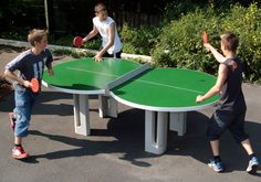 Outdoor table tennis, very cool design!