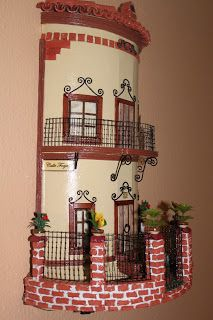დეკორატიული სახლები – My hobby Clay Houses, Ceramic Houses, Miniature Houses, Tile Crafts, Fun Crafts, Diy And Crafts, Glow Table, Clay Wall Art, Doll House Crafts